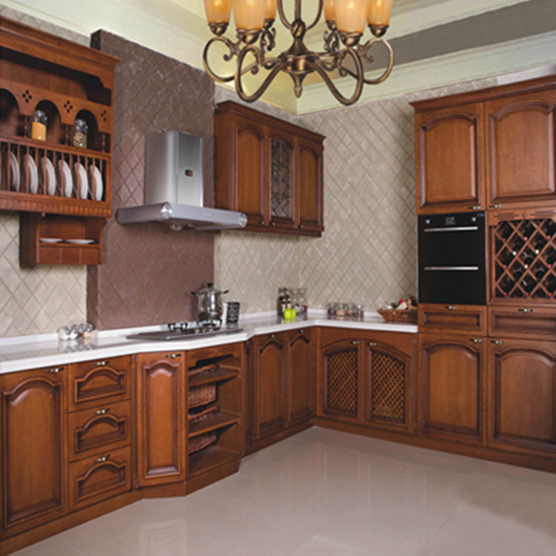 Kitchen Cabinet China: China Made Solid Cherry Wood Kitchen Cabinet-in Kitchen