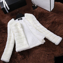 oioninos Winter New Women Faux Fur Lamb Fur Soft Jacket Elegant Coat Short Slim Comfort Outerwear