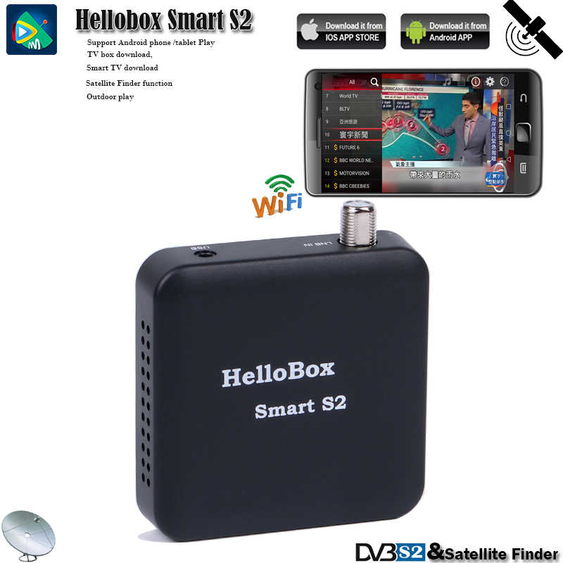 Hellobox Receiver TV Satelit Satelit Finder Tuner Smart S2 Mendukung IOS/Android/Sistem Windows Bermain Di Ponsel/Tablet/PC