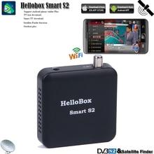 Hellobox Ontvanger Tv Satellite Finder Tuner Smart S2 Ondersteuning Ios/Android/Windows Systeem Spelen Op Mobiele Telefoon/Tablet/Pc