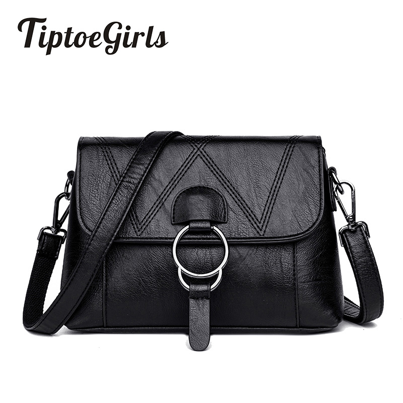 New Ladies Handbags Wild European and American Fashion Shoulder Bag Soft Leather Casual Messenger Bag Simple Small Square Bag 2017 autumn european and american fashion women s handbags high end atmosphere banquet tote bag dhl speedy shipping