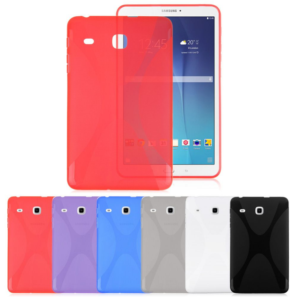 Slim X Line Soft TPU Gel Case Cover For Samsung Galaxy Tab E 8.0 SM-T377 T377P T377V T377R T377A Tablet Back Cover Skin x line tpu case gel silicone tablet case skin rubber cover pouch sleeve bag for sony xperia z3 8 0 tablet compact sgp621 sgp641