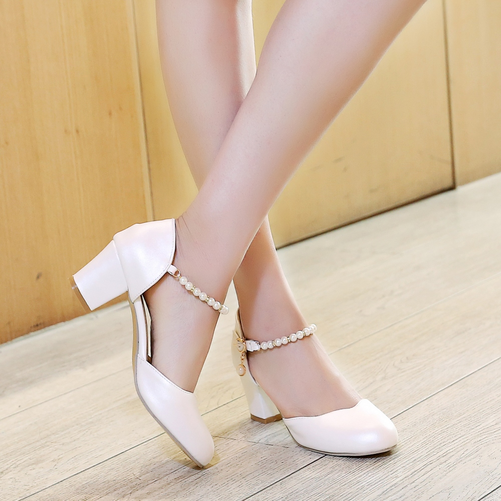 Pink Thick Heels