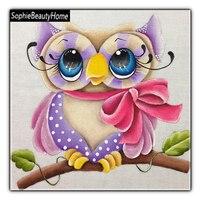DIY Diamond Embroidery Animal Cartoon Owl Full Diamond 3D Diamond Paint Cross Stitch Square Diamond Mosaic