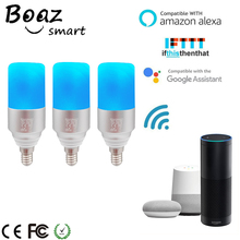 Boaz E27/E14 Smart Wifi Bulb Voice Control Bulb RGBW Dimmable LED Bulb Smart Light Tuya APP Control Alexa Echo Google Home IFTTT