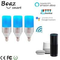 Boaz E27/E14 Smart Wifi Bulb Voice Control Bulb RGBW Dimmable LED Bulb Smart Light Tuya APP Control Alexa Echo Google Home IFTTT