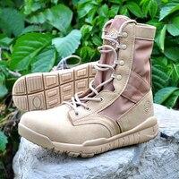 Wojskowe buty taktyczne desert combat shoes skóra na zewnątrz podróże turystyka armii botas jesień botki
