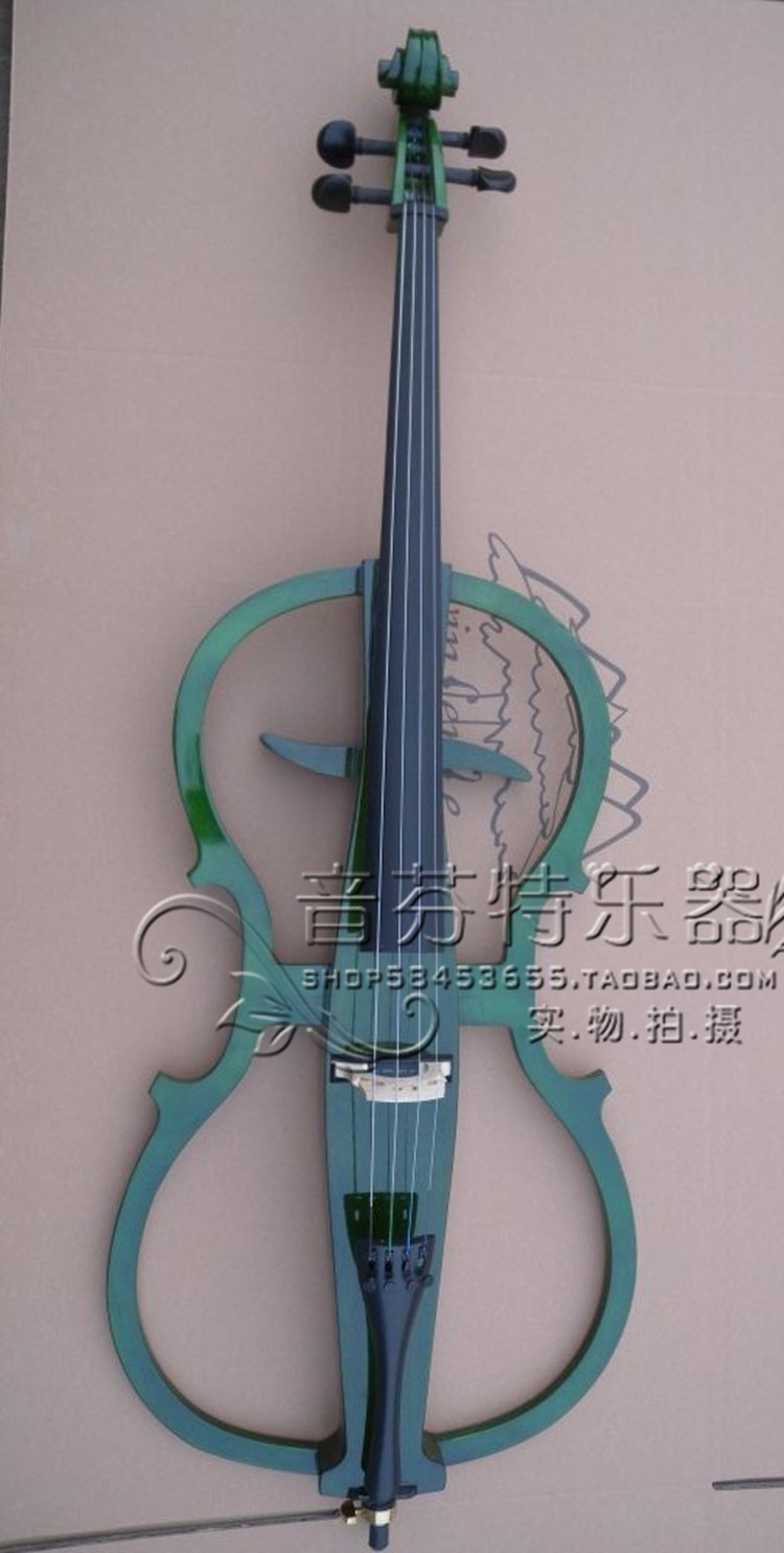 new Quality  4/4 electric cello electronic cello green ebony wood  frigerboard new 4 4 electric cello powerful sound ebony parts end pin tailpiece peg 1468