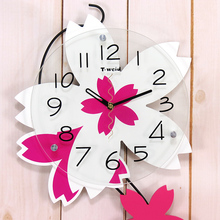 Wooden arch  rustic wall clock mute clock decoration pocket watch quartz clock Home decoration wall stickers creative clock