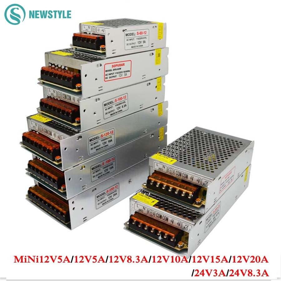 Switch power supply Led adapter AC100-240V to DC 12V 24V 5A 10A 15A 20A 30A 40A Driver Transformer for SMD 5630 5050 LED Strip стоимость