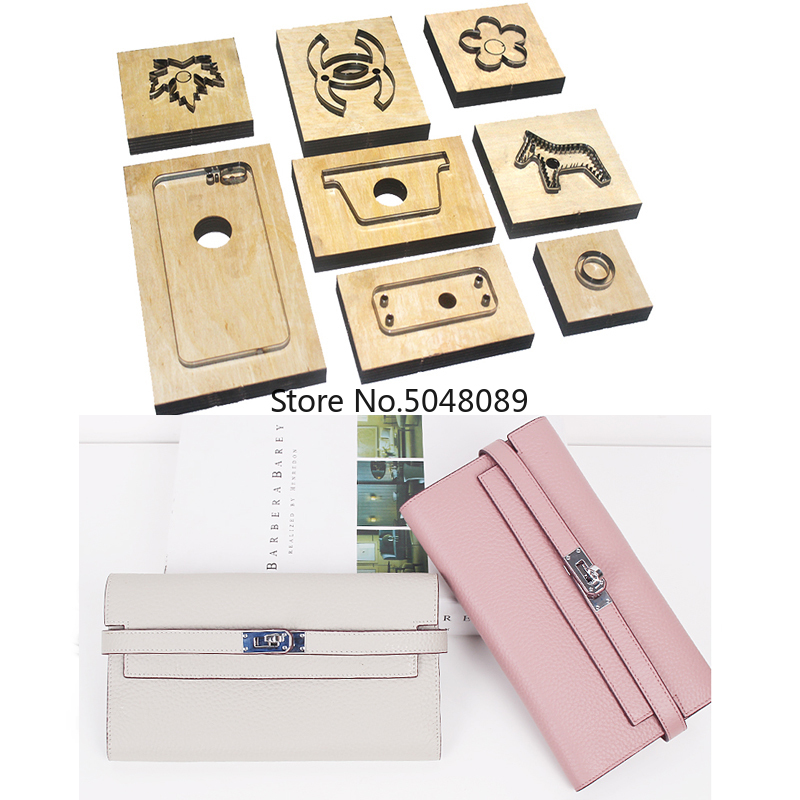 Japan Steel Blade Wooden Rule Metal Die Cutter Women Zipper Wallet Handbag Leather Template Craft Punch