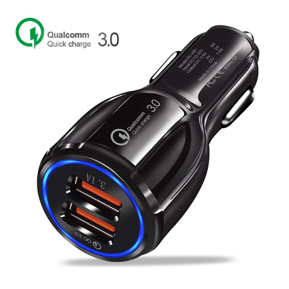 Duble USB charger Led Display Portable Mobile phone charger For Xiaomi Car charger fast charge for iphone huawei samsung lg sony