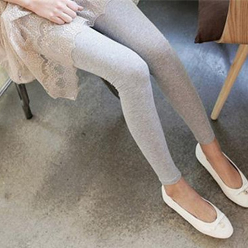 New Women Stretchy High Elastic Cotton   Leggings   Skinny High Waist Slim Stretch Long Pants Warm Brushed Lining Fleece Pants