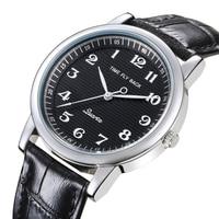 Relógio de quartzo masculino couro anti horário para trás escala óleo gravando dial à prova dwaterproof água reverso relógio menino estudante|Relógios de quartzo| |  -