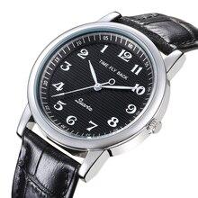 Relógio de quartzo masculino couro anti horário para trás escala óleo gravando dial à prova dwaterproof água reverso relógio menino estudante