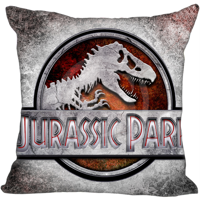 New Arrival Custom Pillow Case adventure Movie Jurassic Park Pillowcase zipper 35x35 cm (One side) F922 image