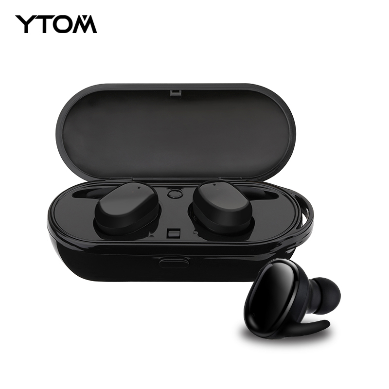 YTOM New Capsule Sport Bluetooth 5.0 Ture Wireless Headphones TWS MINI Earphone Deep Bass Stereo Sound Headset for IOS Android new sport running bluetooth wireless ear hook earphone super stereo bass headset noise reduction lot ib for android ios phones