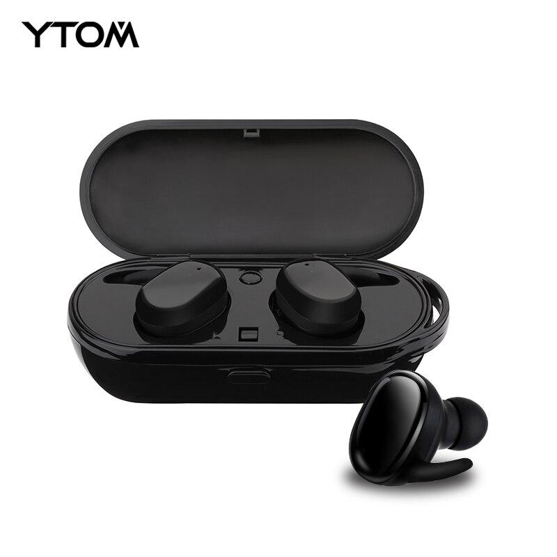 YTOM Nouvelle Capsule Sport Bluetooth 5.0 Ture Sans Fil Casque TWS MINI Écouteurs Deep Bass Son Stéréo Casque pour IOS Android
