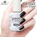 Saviland 15ML No Wipe Top Coat & Base Coat Long Lasting No Sticky Gel Nail Cover Clean Free Soak Off Nai Gel Polish