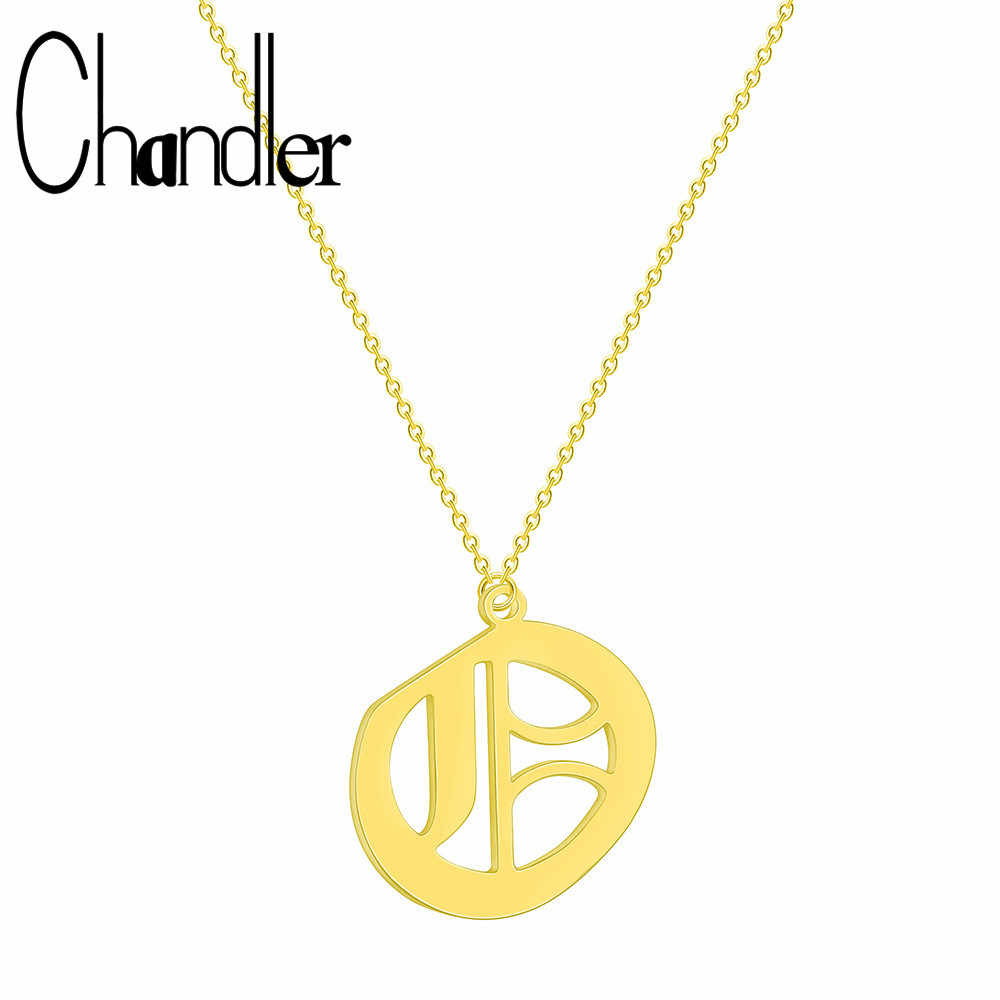 Chandler Fashion Tiny Dainty Ancient Necklace For Women Personalized Letter Q Necklace Name Jewelry accessories girlfriend gift