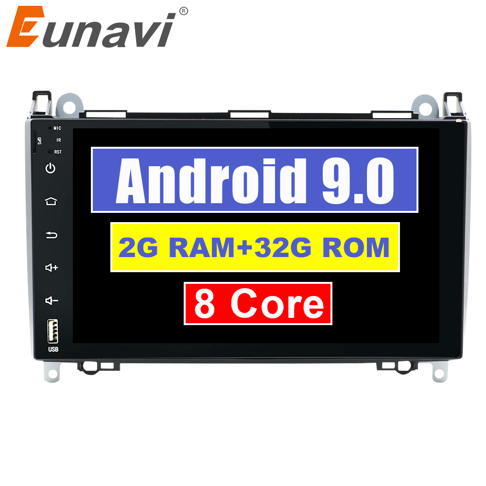 Flash Deal Android 9.0 2din Auto radio Car DVD multimedia for Mercedes Benz B200 A B Class W169 W245 Viano Vito W639 Sprinter W906 WIFI GPS 0