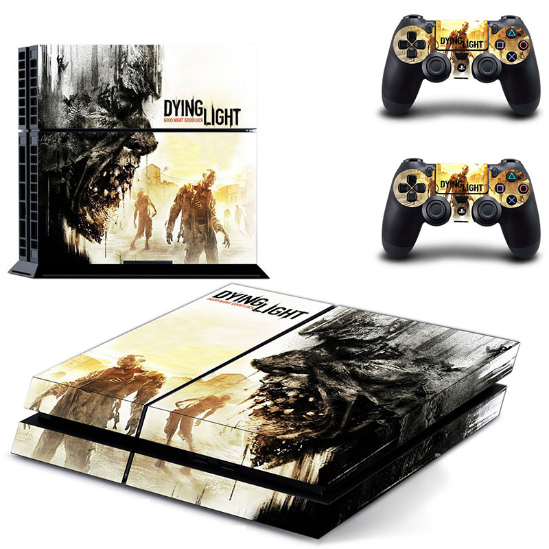 Game Dying Light PS4 Skin Sticker Decal for Sony PlayStation 4 Console and 2 Controller Skin PS4 Sticker Vinyl Accessories