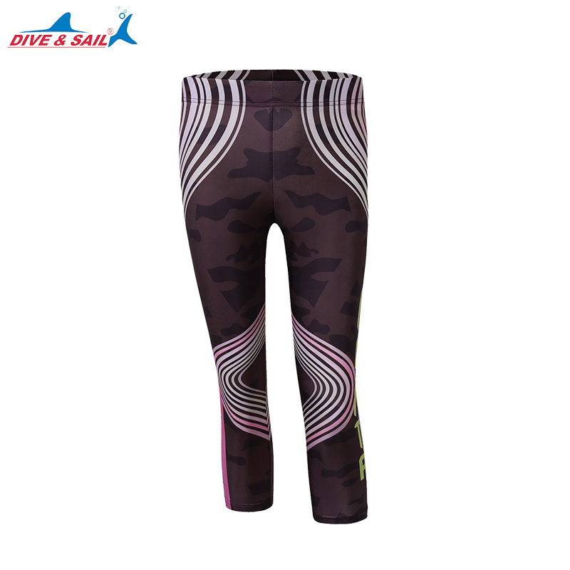 Women's Water Swim Leggings UV Rash Guard Capri Pants Waterwear Ladies Swim Leggings Women's Swim Tights