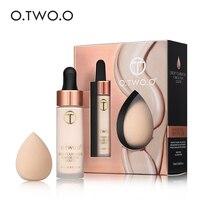 O. O основа для макияжа лица + спонж для косилера основа для макияжа косметическая пудра длительный база макияж комплект