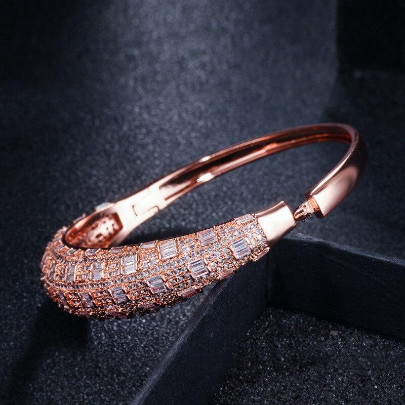 Haute qualité rose or zircon bracelet pour les femmes - 4
