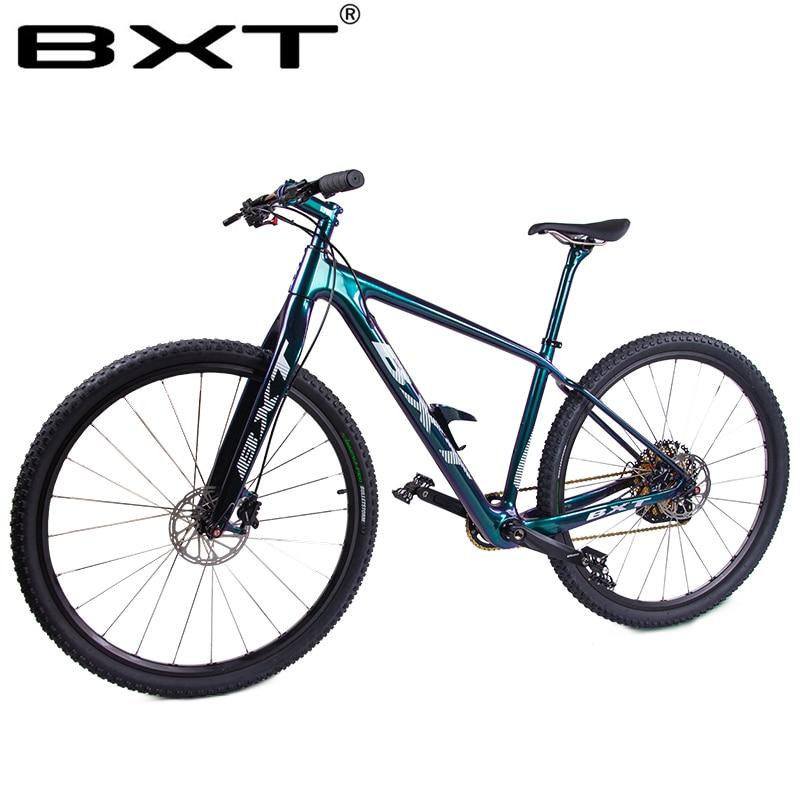 BXT Mountain Bike 29er Carbon 142/148 Boost MTB Bike Frame Double Disc Brake 1*12S Rear Derailleur Ultra-light Complete Bicycle