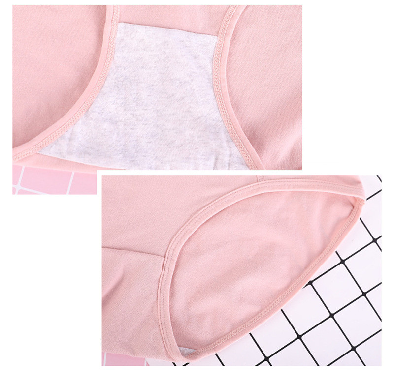 Image 3 - 3pcs/Lot Big Size XL 6XL Sexy High Waist Womens Cotton Solid Panties Breathable Briefs Underwear Lingerie Pantieswomens panties   -