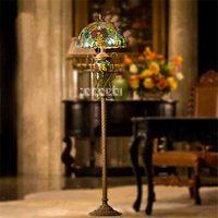 TF175 European Retro Garden Classical Art Vertical Floor Lamp Upscale Creative Art Lamp Bedroom Living Room Study Floor Lamp