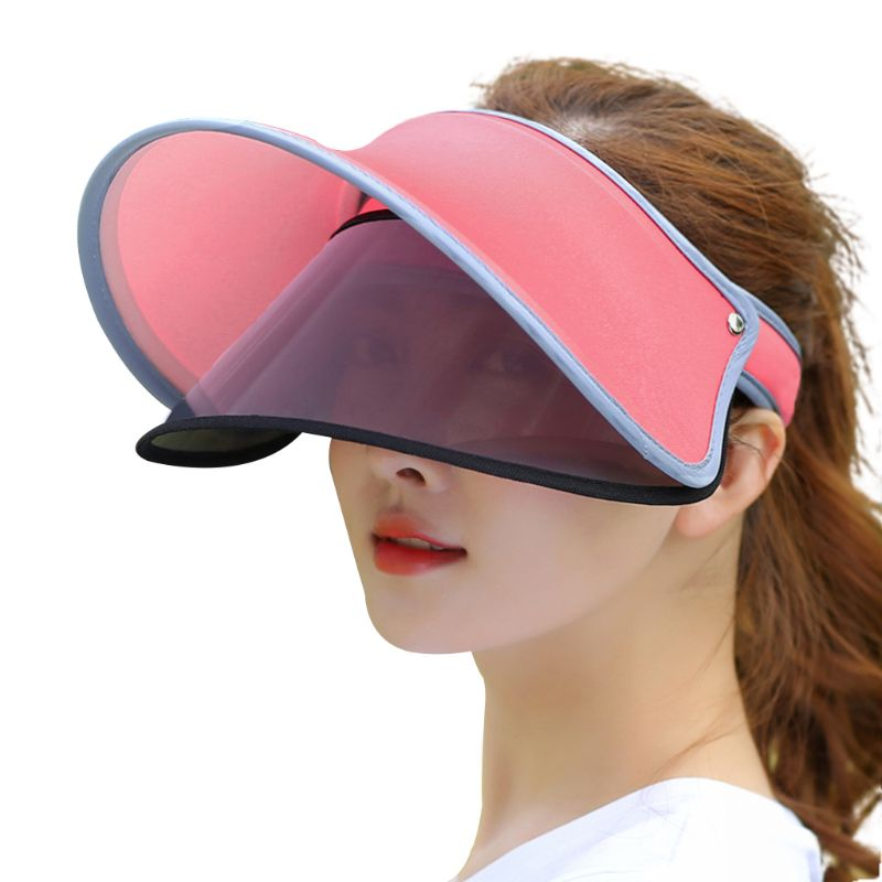 Dynamic Women Summer Ice Silk Open Top Double Visor Sun Hat Clip-on Adjustable Wide Brim Anti-uv Cycling Outdoor Beach Baseball Cap Famous For Selected Materials, Novel Designs, Delightful Colors And Exquisite Workmanship