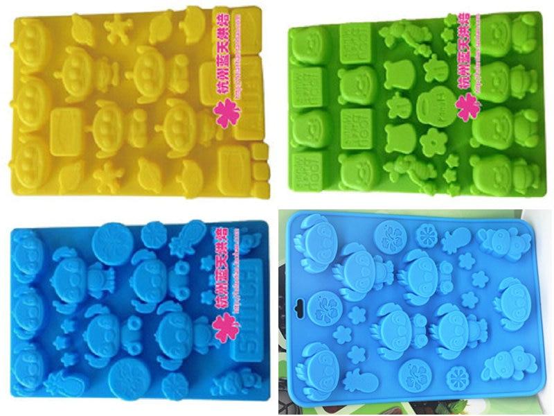 1 шт мультфильм История флейта cub силиконовые помадные формы глины шоколада mouldFM