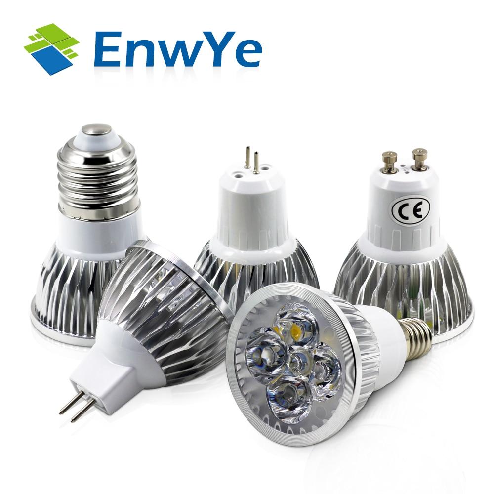 EnwYe 5PCS LED lamp Spotlights Light Cool White/Warm White 4W 5W E14 GU10 GU5.3 MR16 AC85-265V 110V 220V 12V IC drive