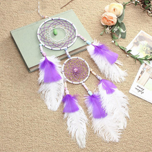 купить Car Ornament Pendant Handicrafts Dream Catcher Feather Hanging Car Rearview Mirror for Car Hanging Auto Accessories по цене 558.83 рублей