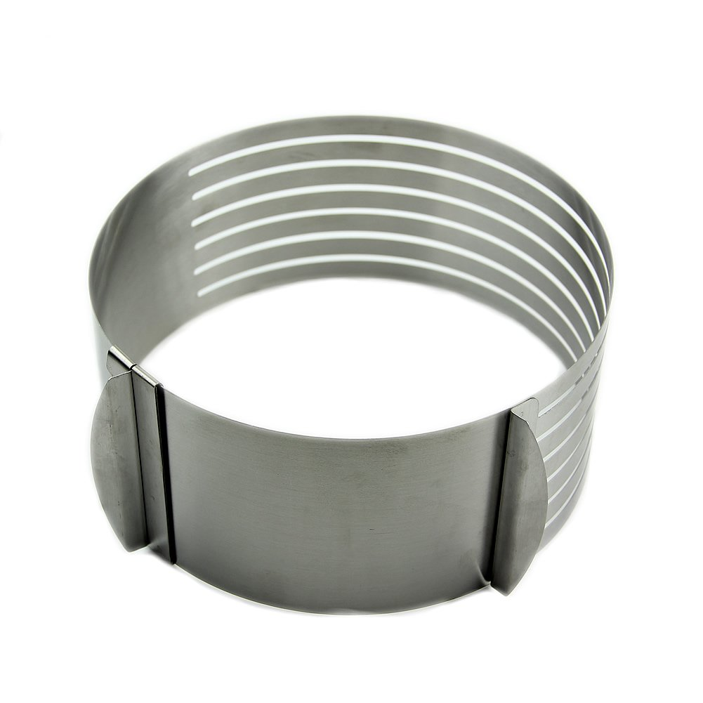PHFU HeroNeo 16-20cm Adjustable Stainless Scalable Mousse Cake Ring Layer Slicer Cutter Mould