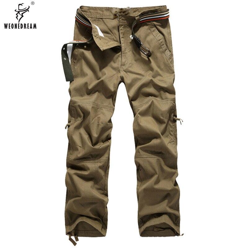 Weonedream 2018 moda hombres Pantalones alta calidad de algodón para hombre  Pantalones cargo ejército Militar táctico Pantalones tamaño 30 40 en  Pantalones ... 6e0de4211cc