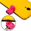 Многоцветный Вариант Форма Робота Android Micro USB К USB Конвертер Общего OTG Адаптер Для Телефонов