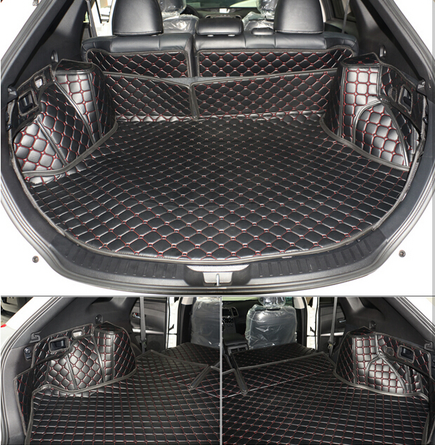 full covered non slip no odor Special car trunk mats for ToyotaVenza easy to clean durable waterproof boot carpets