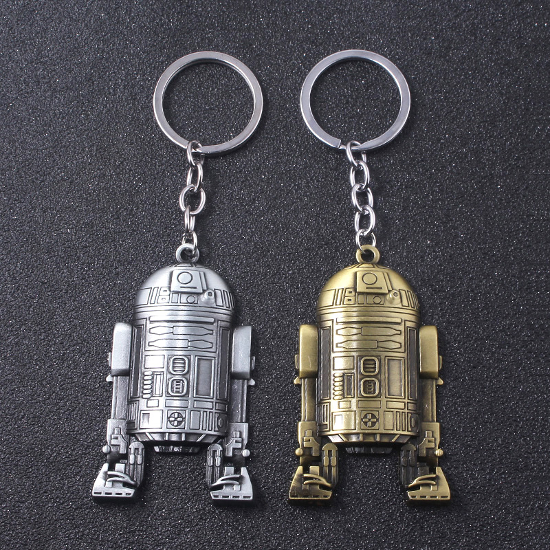 Star Wars BB-8 Darth Vader  inspired minifigure keyring keychain gift