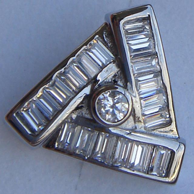 Homens jóias cool men/boy's triagnle completa pave cz aço inoxidável 316L brinco do parafuso prisioneiro do punk
