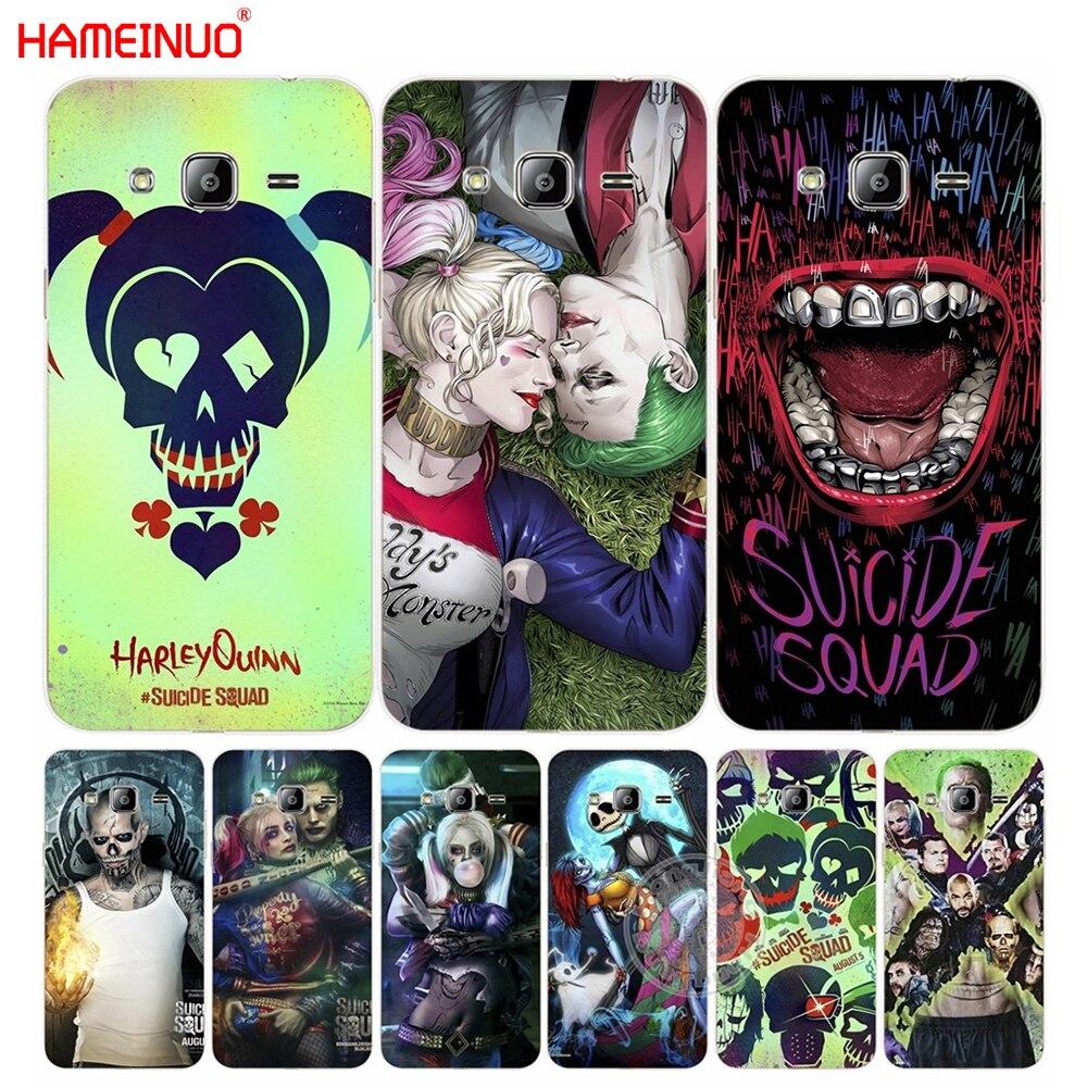 HAMEINUO suicide squad Joker harley quinn cover phone case for Samsung Galaxy J1 J2 J3 J5 J7 MINI ACE 2016 2015