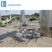 cast aluminum Furniture 4 Seats Outdoor Dining Set