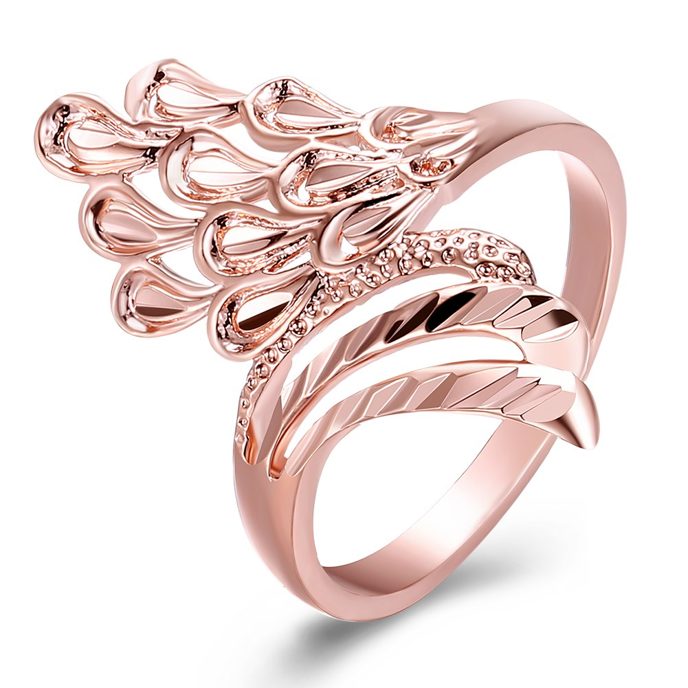 New Fashion Female Wedding Bands Jewelry Rose Gold Color Engagement ...