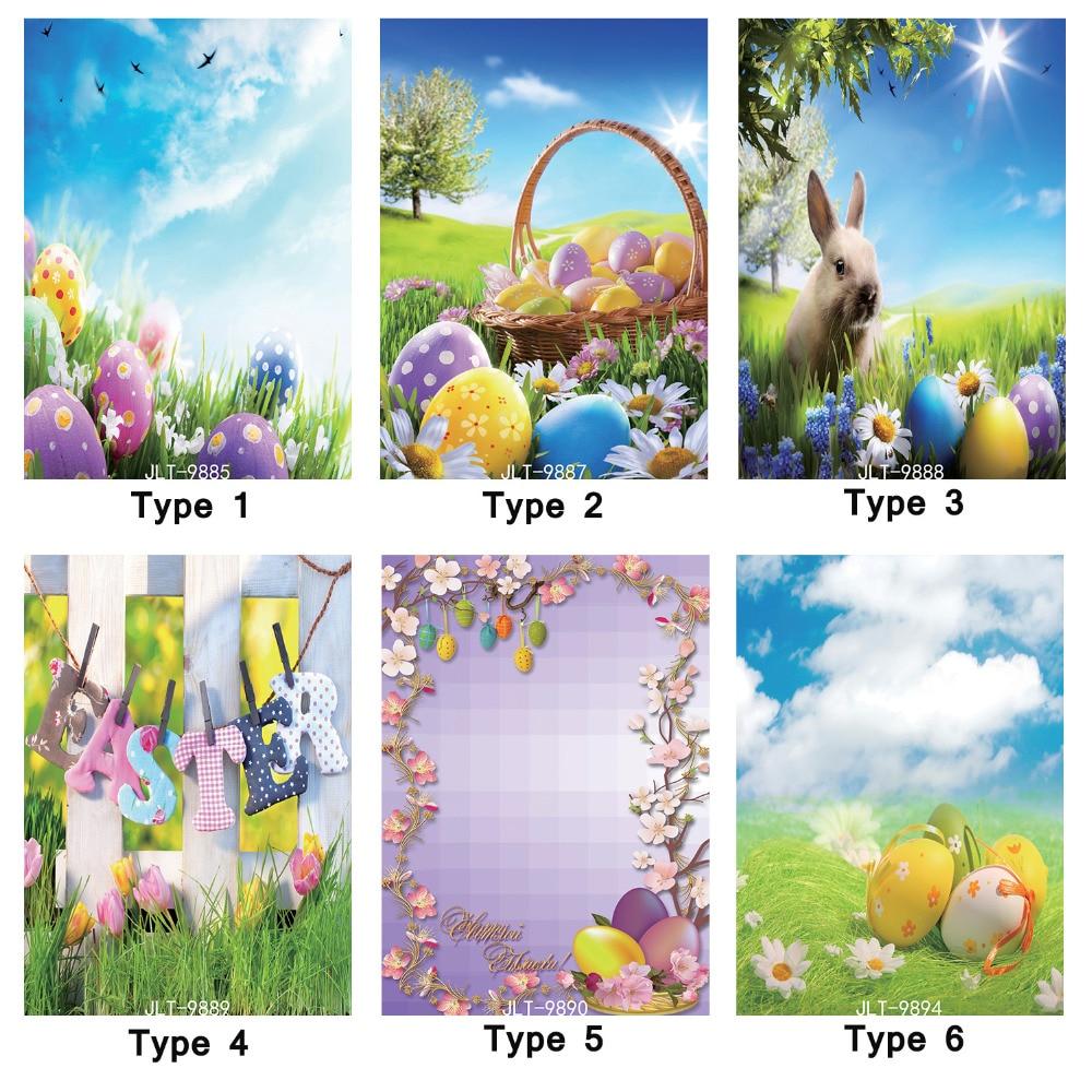 Photographic Background Printed Spring Flowers Easter Eggs 5X7ft Vinyl Photo Backdrops Fond Studio Photo for Children Newborn