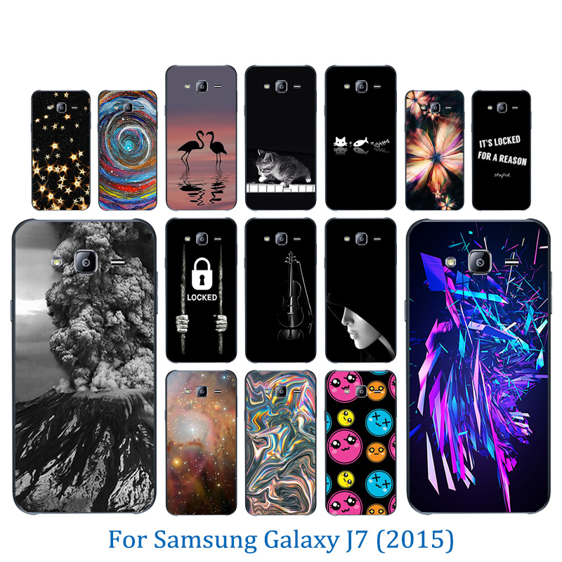 For <font><b>Samsung</b></font> Galaxy J7 2015 <font><b>J700H</b></font> J700F J700 <font><b>SM</b></font>-J700F Phone Cases Soft Silicone TPU Coque Volcanic Pattern Full Protection Shell image