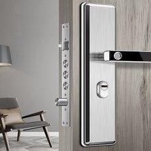 Cerradura de acero inoxidable con huella dactilar oculta, cerradura electrónica biométrica para puerta con huella dactilar para protección Personal interior, cerradura para el hogar