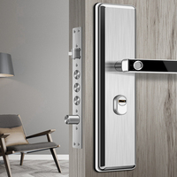 Fechadura da porta da impressão digital biométrica eletrônica escondida de aço inoxidável para a proteção pessoal interna fechadura da casa