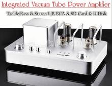 Music Hall Desktop HiFi Vacuum Tube Amplifier Stereo Audio Integrated Hybrid Power Amp Support USB /SD Card
